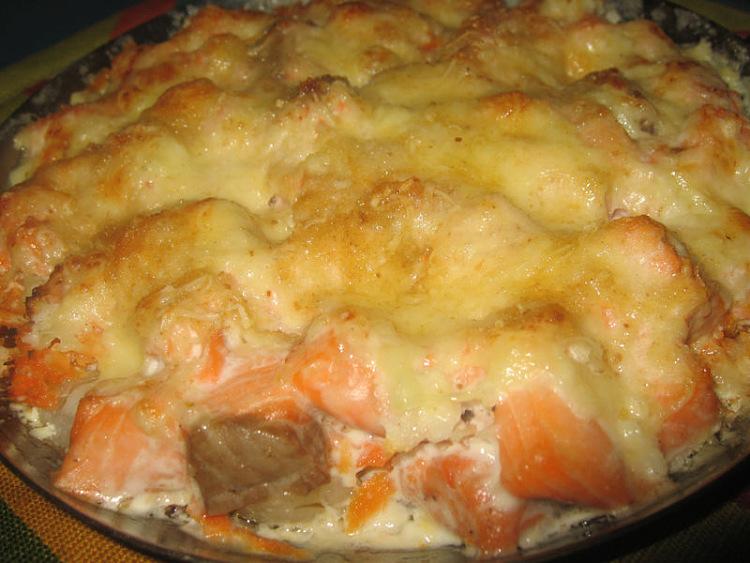 форель запечь в духовке с картошкой видео