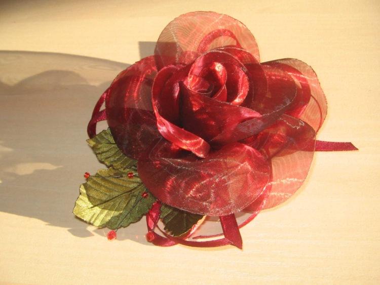 Роза из органзы мастер класс