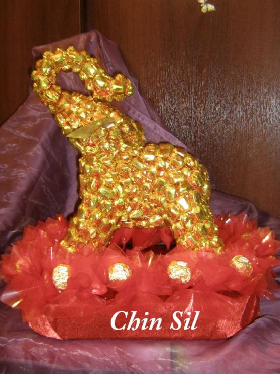 Мастер класс слоник из конфет