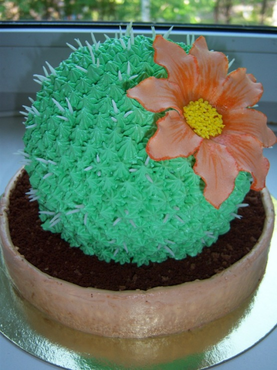 Торт в виде кактуса фото