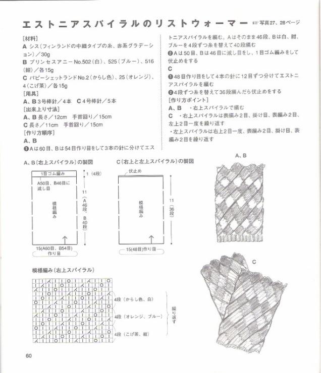 Азиатский колосок схема вязания мастер класс шапка 42