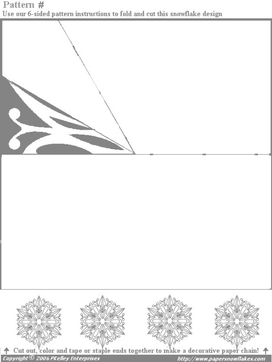 Распечатать схему снежинки для вырезания распечатать