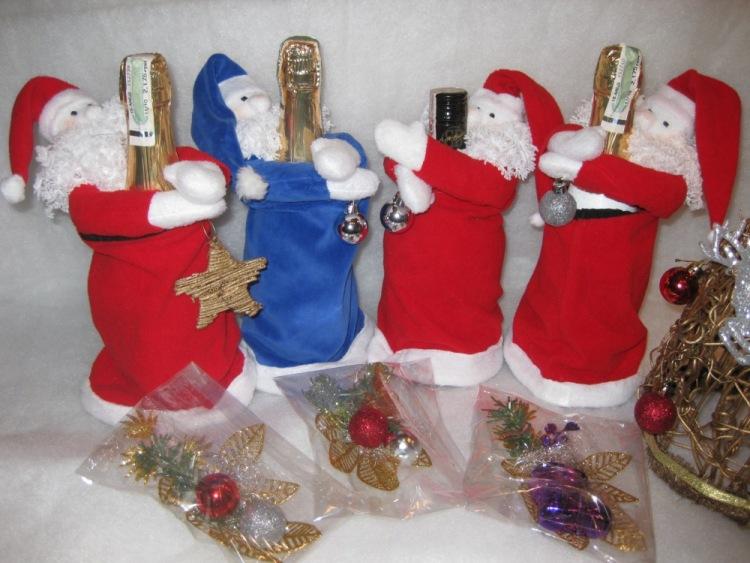 Новогодние украшения на бутылку шампанского своими руками
