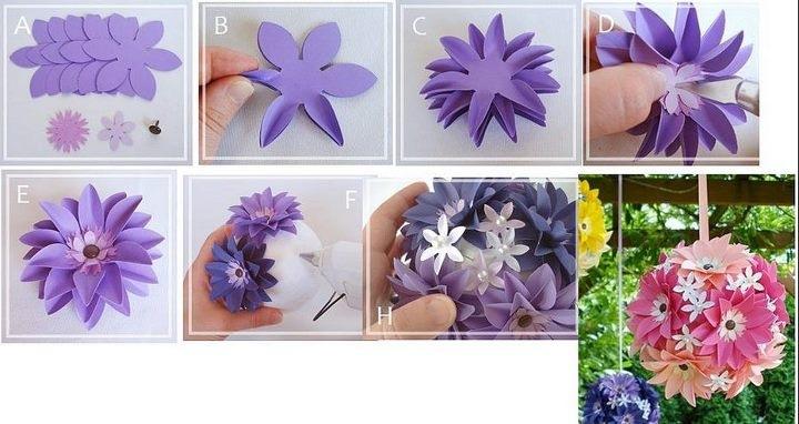 Делать цветы своими руками из бумаги