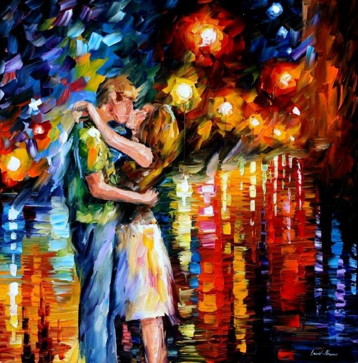 Вышивка танго под дождем