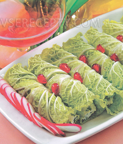 Рулетики из салатов