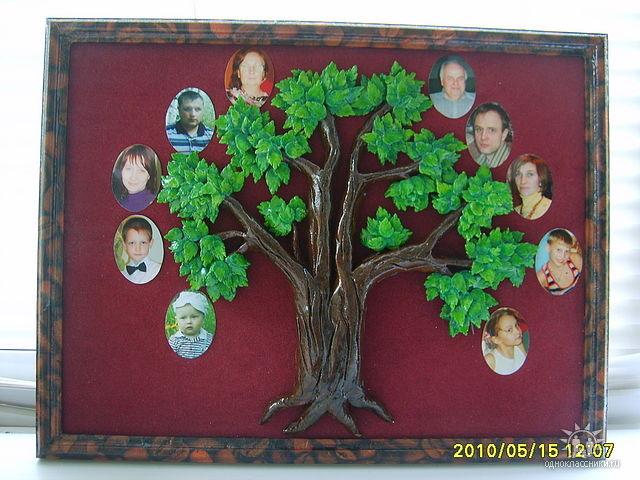 Древо семьи своими руками подручными средствами с фото 98