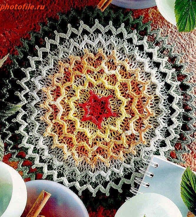 Коврик из гавайских цветков схема