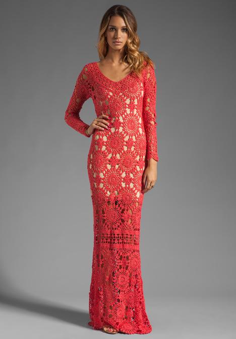 длинные платья вязанные купить