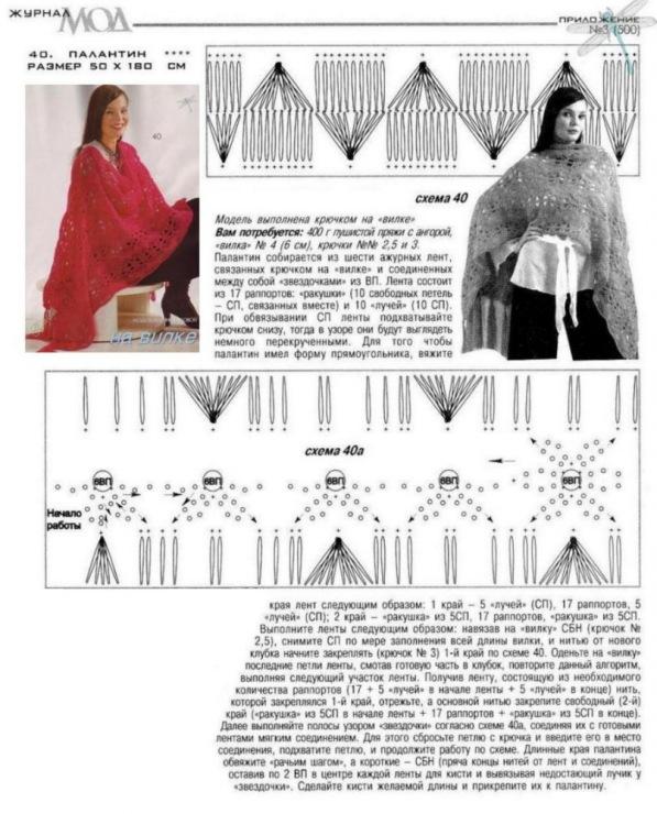 Журнал вязание на вилках