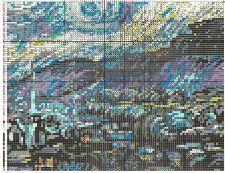 Звездная ночь ван гога вышивка схема