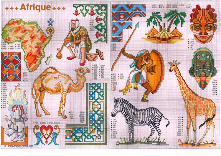 Вышивка схемы африканская 36