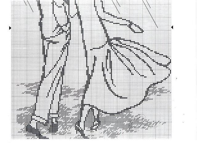 Схема вышивки уходящая пара 48
