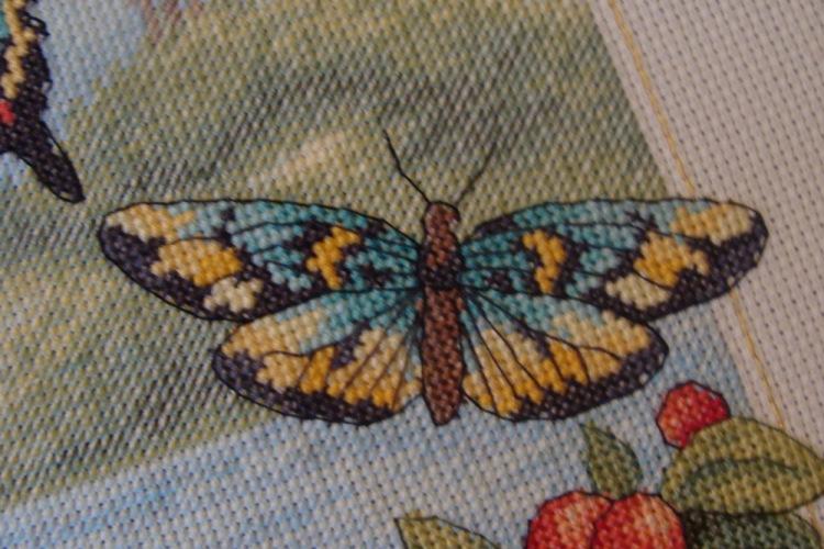 Лес бабочек схема вышивки 2