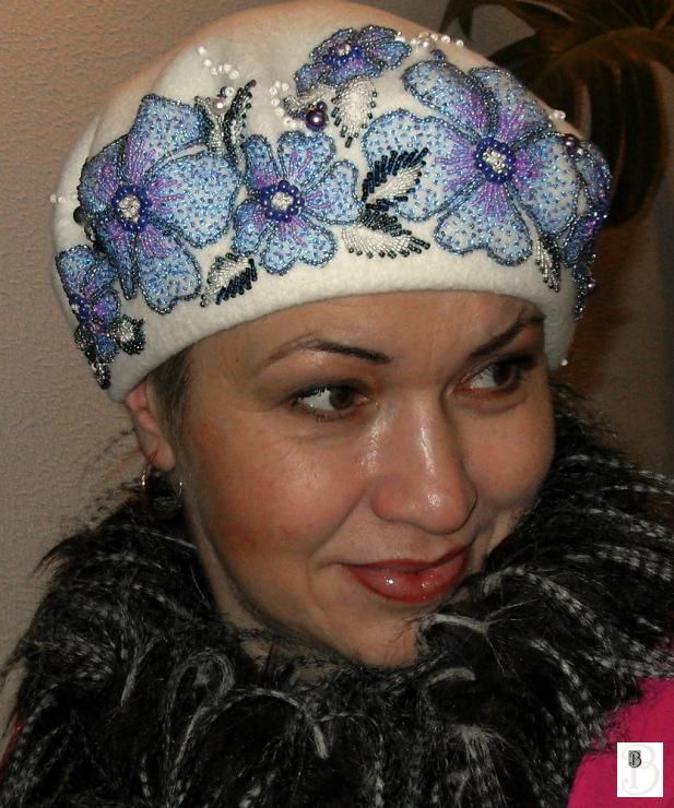 Вышивка на шапках фото 82