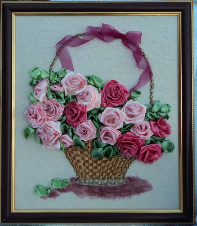 Вышивка атласными лентами не цветы 474