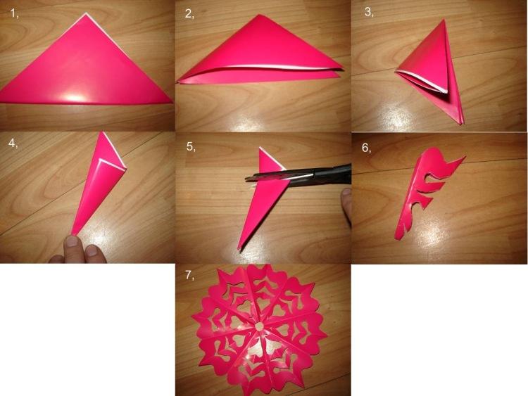 Видео про как сделать из бумаги снежинку