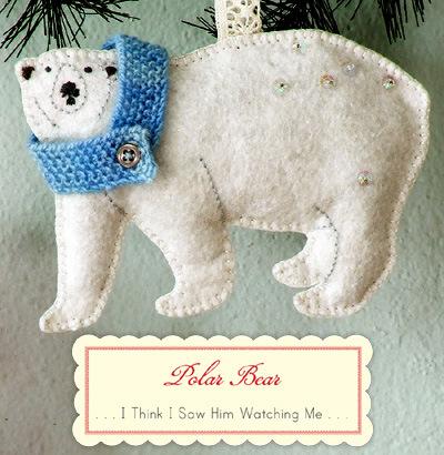 Новогодний белый медведь своими руками