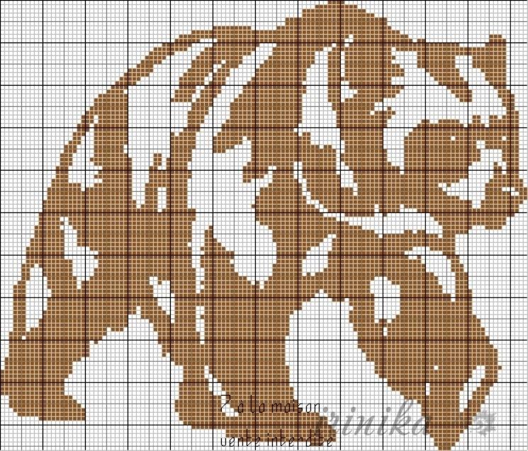 Схема вышивки лапы медведя 45