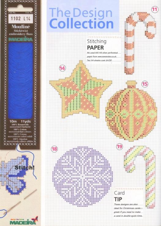 Схемы новогодних вышивок на пластиковой канве 18