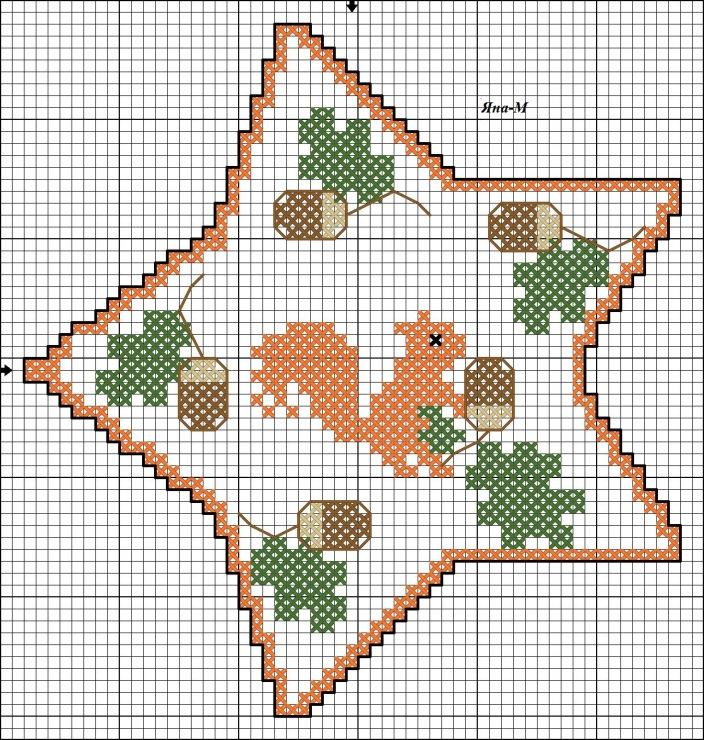 Звезды схемы вышивки 57