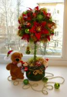 Дерево счастья новогоднее своими руками мастер класс пошагово фото 32