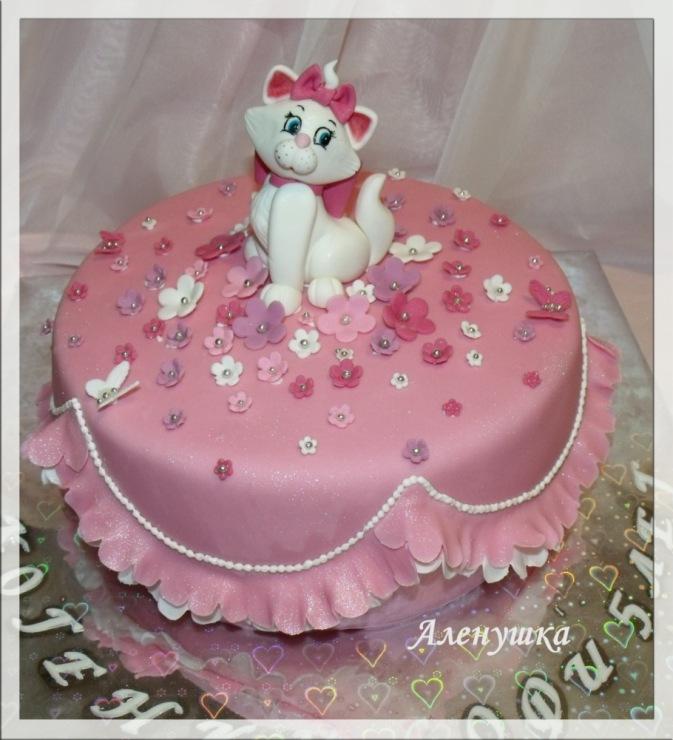 Детский торт кошечка фото