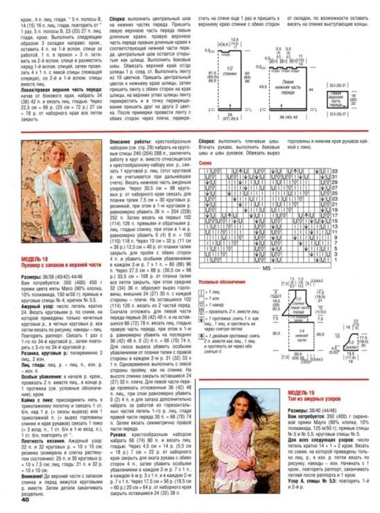 Журнал мод обозначения в вязании