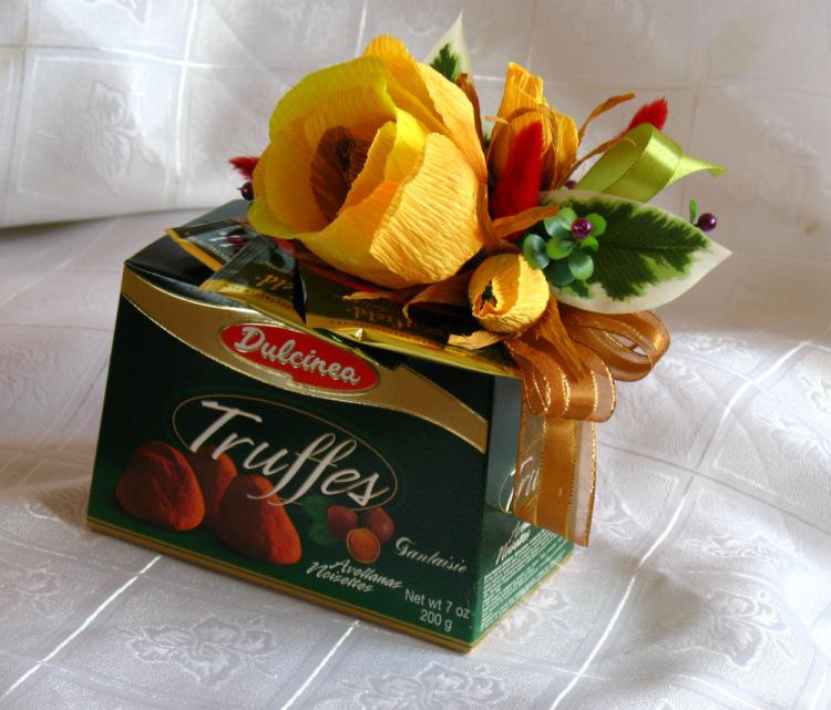 День учителя подарок из конфет 3