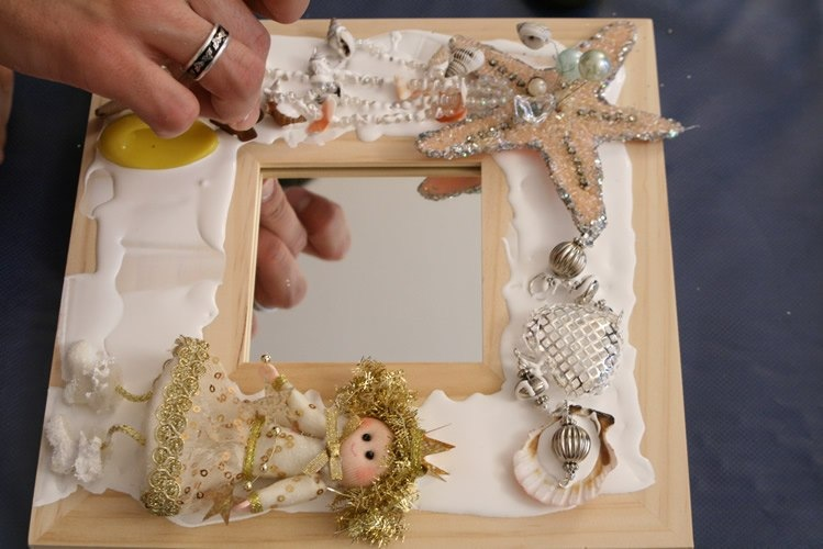 Декорирование своими руками рамки для фото