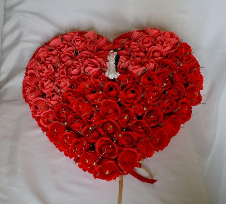 Как сделать сердце из роз своими руками пошаговое фото 14