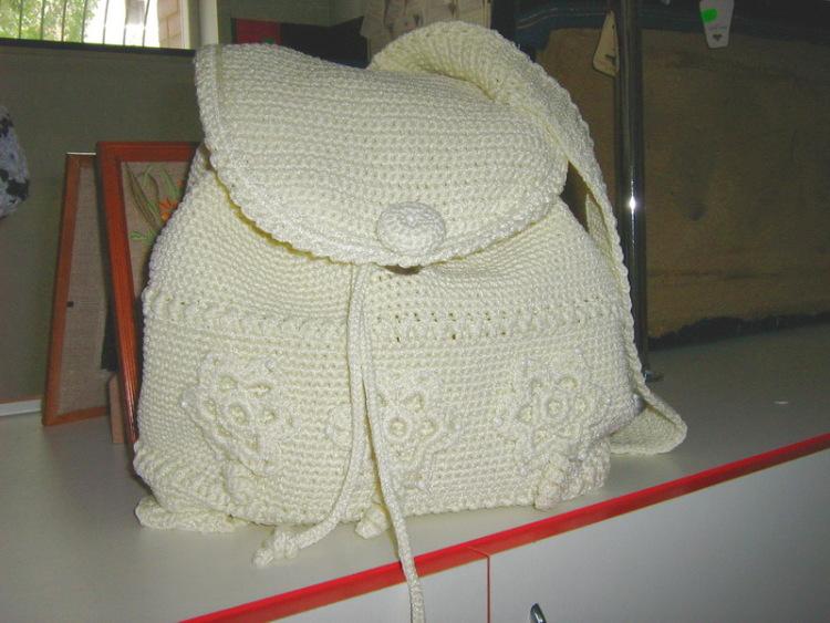 Как связать крючком сумки рюкзаки 96