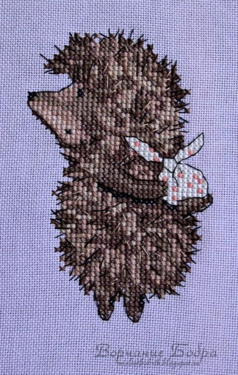 Схема вышивки крестом ежик тумане