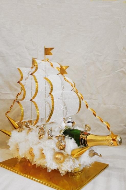 Корабль своими руками из конфет и шампанского своими руками 31
