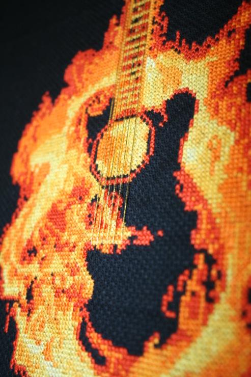 Огненная гитара схема для вышивки 572