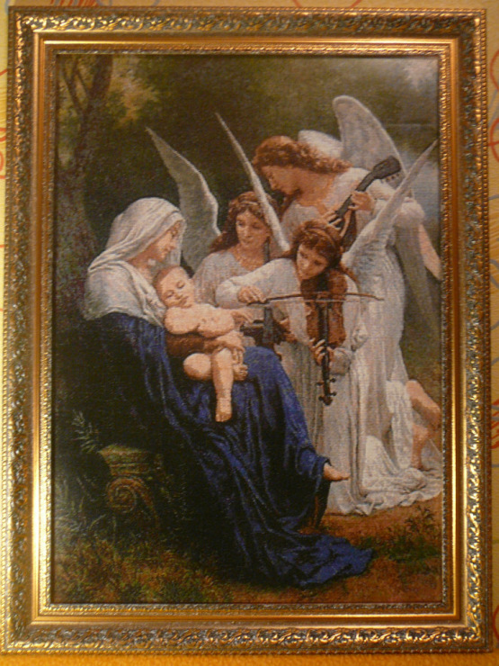 Вышивка ангел с лютней 43