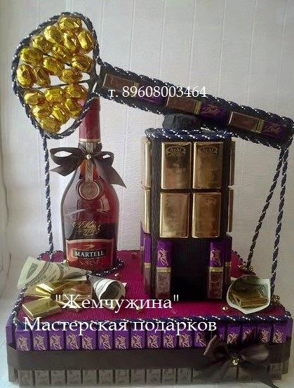 Оригинальный подарок мужчине из конфет