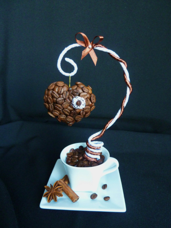 Подарки на свадьбу из кофейных зерен 173