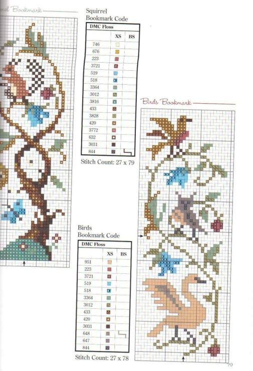 Схема вышивки крестом очечник 9