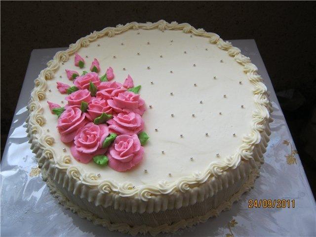 Украшение торта кремом фото пошагово