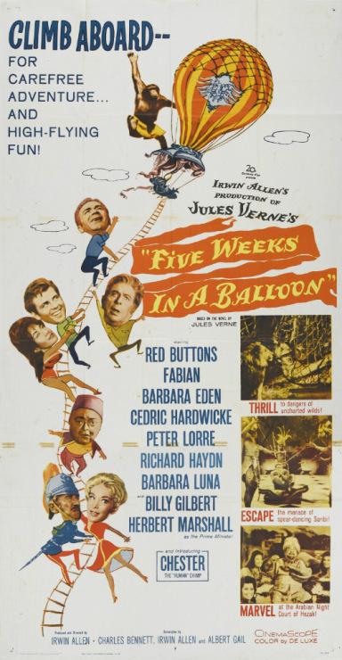 Jules verne wrote cinq semaines en ballon / 5 weeks in a balloon / five weeks in a balloon in 1863 but it wasnt