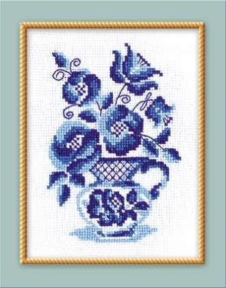 Гжель и хохлома вышивка крестом 9