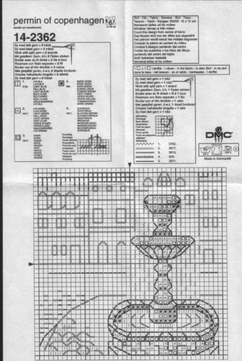 Схемы для вышивки фонтаны