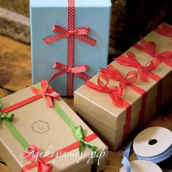 Как украсить большую коробку с подарком своими руками - Как красиво упаковать подарок своими руками