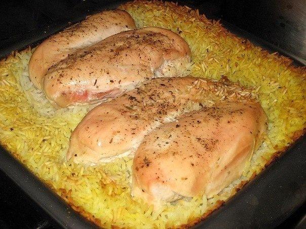 Окорочка с рисом и кукурузой в духовке рецепт пошагово